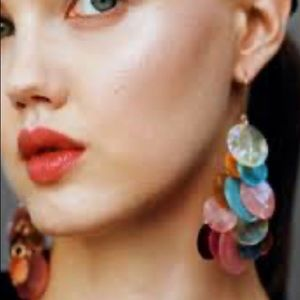 Zara Colorful Disc French Hook Earrings